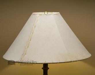 "Southwestern Leather Lamp Shade - 18"" Natural Pig Skin"