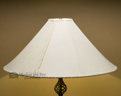 "Western Leather Floor Lamp Shade - 24"" Natural Pig Skin"