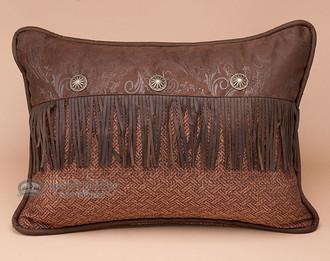 Faux Leather Envelope Pillow 16x21 -Del Rio Accent