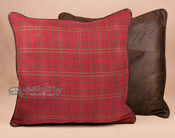 """Faux Leather Euro Sham 27'x27"""" -Cascade Lodge"""