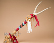 Pueblo Indian Deer Skin Antler Medicine Staff 34""