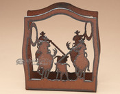 Metal Napkin Holder - Team Ropers