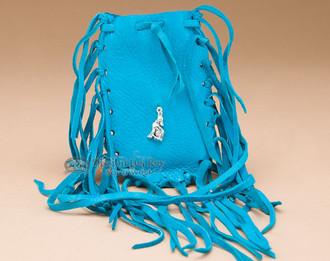 Turquoise Medicine Bag - Wolf