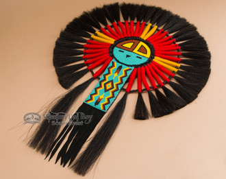 Native American Sun Face Dance Bustle