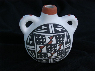 Acoma Painted Pottery Vase