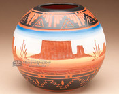 """Navajo American Indian Pottery Vase 5"""" -Monument (p203)"""