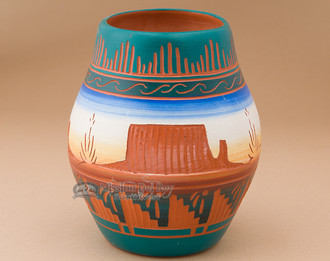 Native American Etched Pottery - Monuments.