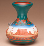 """Navajo American Indian Pottery Vase 5"""" -Monument (p215)"""
