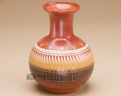 "Indian Pottery Etched Clay Vase 5"" -Navajo"
