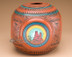 Navajo vase looks square from the side, round on the angle.