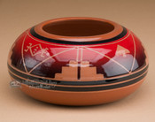 Native American Sioux bowl vase.