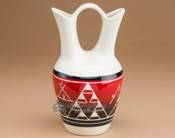 "Lakota Indian Glazed Wedding Vase 8.25"" -Red (p330)"