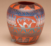 Navajo Indian Etched Wedding Vase 4 5 Quot Napt37 Mission