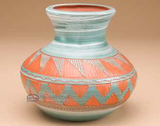 Painted and Etched Native American Pottery