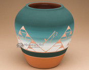 "Native American Lakota Harvest Vase 7.25"" -Sioux (p618)"