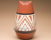 "Sioux Etched Bullet Vase 10"" -Lakota Earth (p635)"