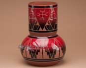 "Sioux Indian Spirit Vase 8.75"" -Lakota Red Glazed"