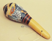 Native Hand Etched Gourd Rattle