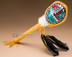 Painted Turtle Shell Rattle - Sun Face