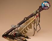Hand Painted Navajo Rattle - Lizard