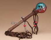 Rawhide Painted Rattle - Kokopelli