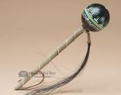 Navajo Painted Ball Rattle - Black