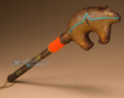 Handcrafted Navajo Rawhide Painted Rattle