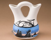 "Navajo Wedding Vase 5.5"" -Monument Valley (89)"