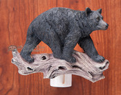 Rustic Lodge Night Light -Black Bear (nl10)