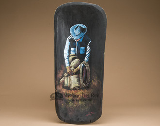 Western Painted Bowl - Cowboy