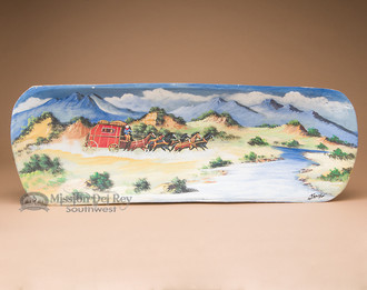 Hand Painted Wooden Bowl - Overland Stage