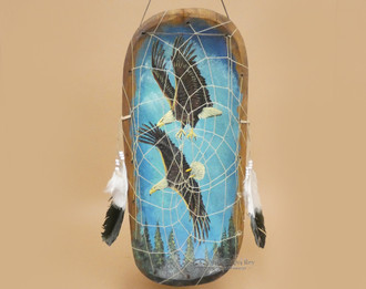 Painted Dreamcatcher Bowl - Eagles
