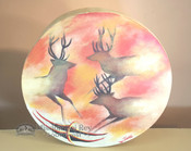 Hand painted Tarahumara Indian Drum -Spirit Deer