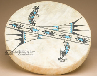 Tigua hand painted one sided drum. (actual drum)