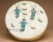 Painted Drum -Tigua Indian Warriors