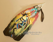 Hand Painted Feathers - Kokopelli