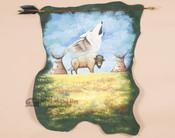 Indian Arrow Wall Painting  - Buffalo & Wolf