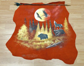 Painted Red Leather on Indian Arrow - Woodland Sunset