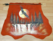 Painted Hide w/ Arrow - Soaring Eagle