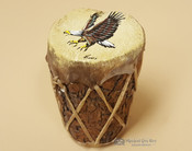 Hand Painted Log Drum - Eagle