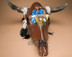 Southwest Painted Skull - Indian