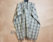 Southwestern Woven Wool Cape -Double Plaid