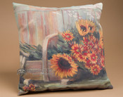 """Outdoor Climaweave Pillow 18"""" -Harvest Moon"""