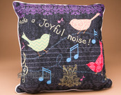 Make A Joyful Noise Song Bird Pillow 18x18