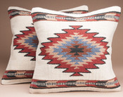 Pair Southwest Wool Pillow Cover 18x18 -Papago Style