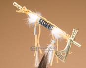 Mini tomahawk brass pipe.