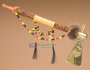 Beaded Creek Indian Tomahawk Pipe