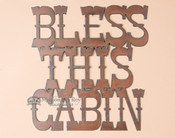 Metal Art Sign - Cabin