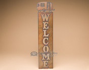 Metal Art Welcome Sign - Camper