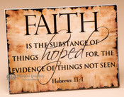 Christian Wall Plaque - Hebrews 11:1